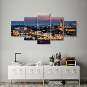 Piazza De Michaelangelo Multi Panel Canvas Wall Art - City