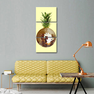 Pineapple Disco Multi Panel Canvas Wall Art - Pineapple