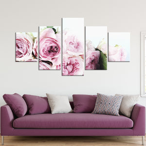 Pink Bouqet Multi Panel Canvas Wall Art - Flower