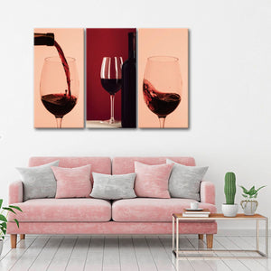 Wine Time Canvas Set Wall Art - Winery