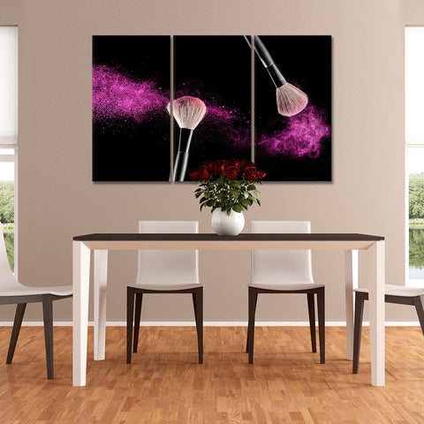 Pink Shimmer Multi Panel Canvas Wall Art