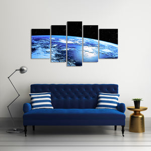 Planet Earth Multi Panel Canvas Wall Art - Astronomy