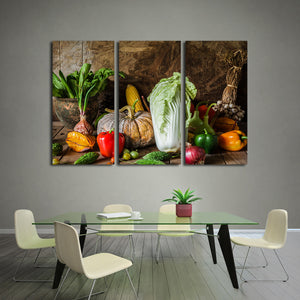 Plant Based Multi Panel Canvas Wall Art - Kitchen