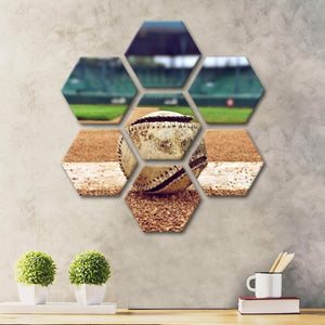 Play Ball Multi Panel Canvas Wall Art - Baseball