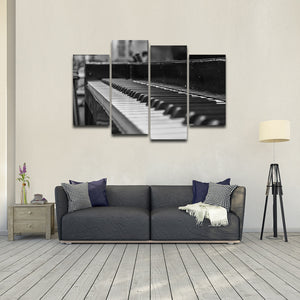 Play The Piano Multi Panel Canvas Wall Art - Piano