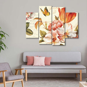 Poesie Florale III Multi Panel Canvas Wall Art - Flower