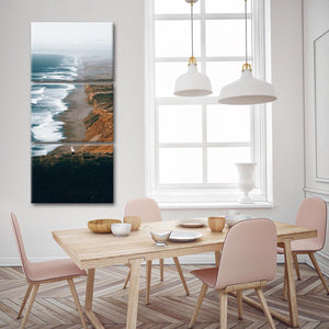 Point Reyes Bay Multi Panel Canvas Wall Art - Beach