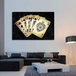 Poker Spade Multi Panel Canvas Wall Art - Poker