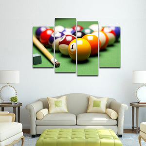Pool Game Multi Panel Canvas Wall Art - Billiard