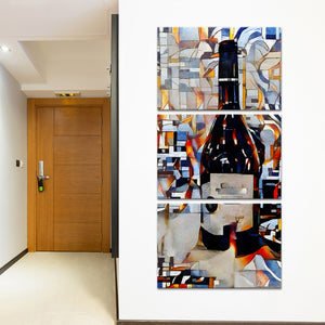 Pop The Bottle Multi Panel Canvas Wall Art - Winery