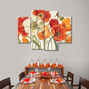 Poppies Melody I Multi Panel Canvas Wall Art - Flower