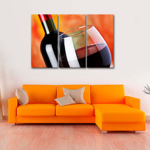 Poured Wine Multi Panel Canvas Wall Art - Winery