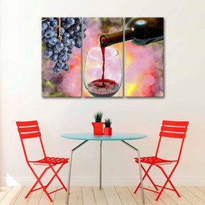 Pouring Goodness Multi Panel Canvas Wall Art - Winery