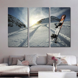 Powder Sensation Multi Panel Canvas Wall Art - Ski