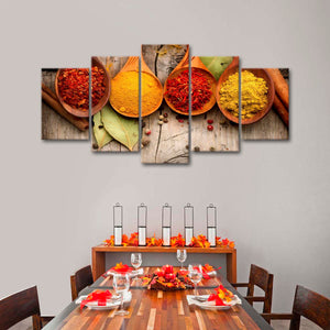 Powdered Spices Multi Panel Canvas Wall Art - Kitchen