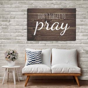 Pray Canvas Wall Art - Religion