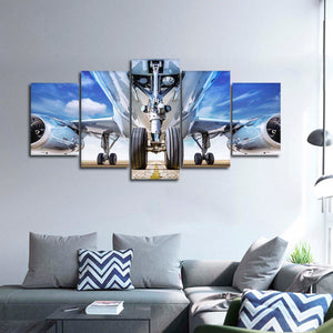 Prepare For Takeoff Multi Panel Canvas Wall Art - Airplane