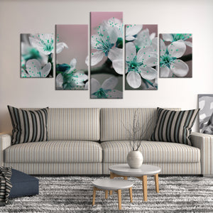 Pretty Blooms Multi Panel Canvas Wall Art - Flower