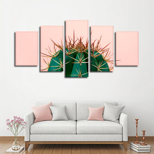 Prickly Cactus Multi Panel Canvas Wall Art - Botanical