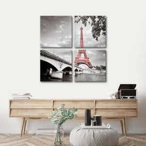 Pride Of Paris Pop Multi Panel Canvas Wall Art - Paris