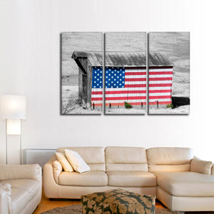 Proud Barn Pop Multi Panel Canvas Wall Art - America