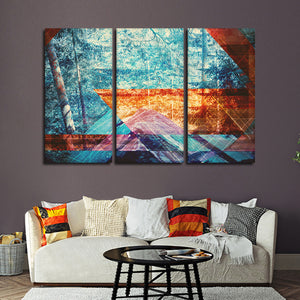 Psychedelic Forest Multi Panel Canvas Wall Art - Geometric
