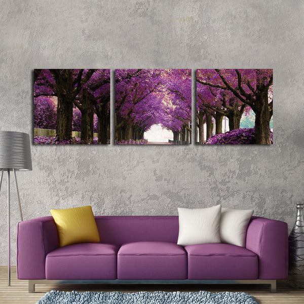 Purple Park Multi Panel Canvas Wall Art