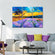 Purple Field Multi Panel Canvas Wall Art