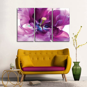 Purple Flower Multi Panel Canvas Wall Art - Flower