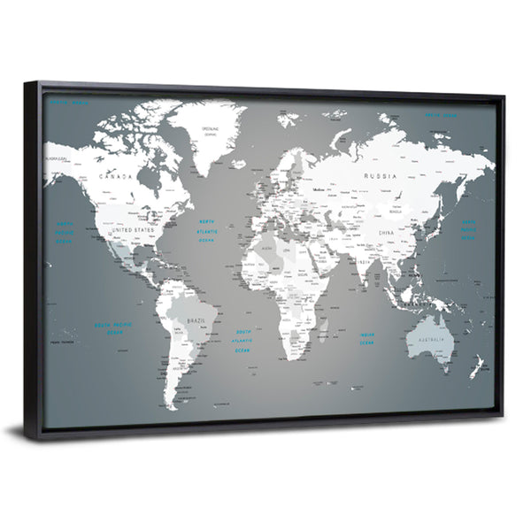 Push pin world map multi panel canvas wall art elephantstock push pin world map multi panel canvas wall art gumiabroncs Choice Image