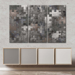 Puzzle Metal Wall Multi Panel Canvas Wall Art - Geometric