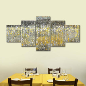 Rain Abstract II Multi Panel Canvas Wall Art - Abstract