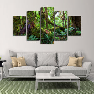 Rain Forest Multi Panel Canvas Wall Art - Nature
