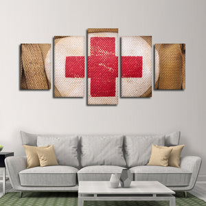 Red Cross Multi Panel Canvas Wall Art - Medical