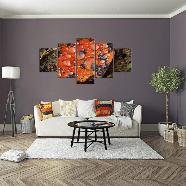 Red Leaf Multi Panel Canvas Wall Art
