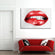 Red Lipstick Multi Panel Canvas Wall Art