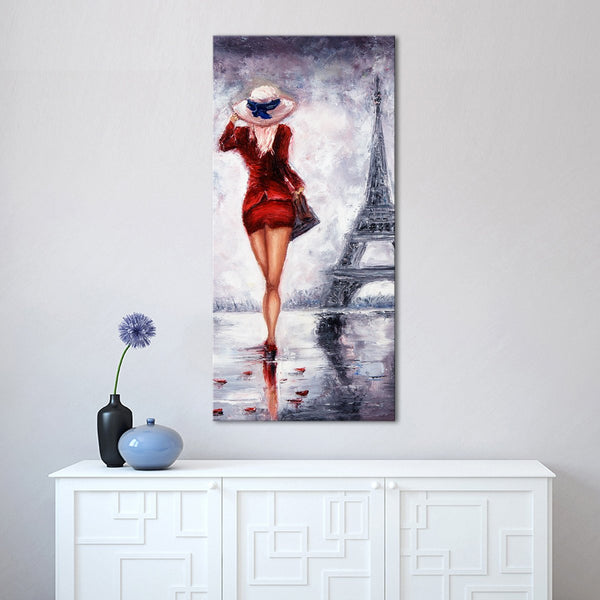 Red Paris Multi Panel Canvas Wall Art