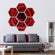 Red Rose Multi Panel Canvas Wall Art