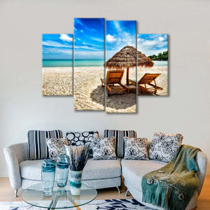 Relax on the Beach Multi Panel Canvas Wall Art - Beach
