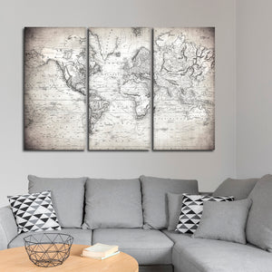 Represent the World Map Multi Panel Canvas Wall Art - World_map