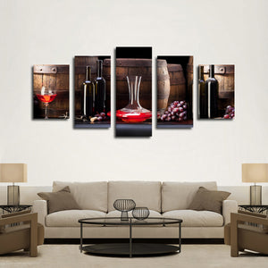 Reserve Wine Multi Panel Canvas Wall Art - Winery
