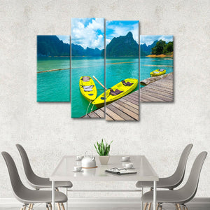 Resort Kayaks Multi Panel Canvas Wall Art - Kayak