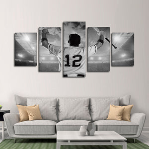 Respect The Game Multi Panel Canvas Wall Art - Baseball