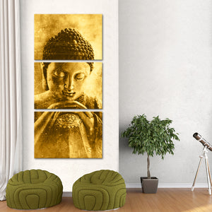 Resting in Nirvana Multi Panel Canvas Wall Art - Buddhism
