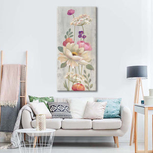 Retro Floral I Multi Panel Canvas Wall Art - Flower