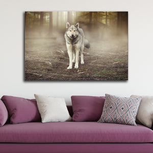 Return of the Wolf Multi Panel Canvas Wall Art - Wolf