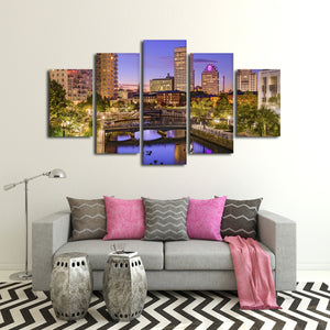 Rhode Island Multi Panel Canvas Wall Art - City