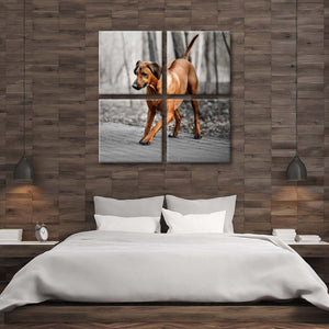 Rhodesian Ridgeback Puppy Multi Panel Canvas Wall Art - Dog