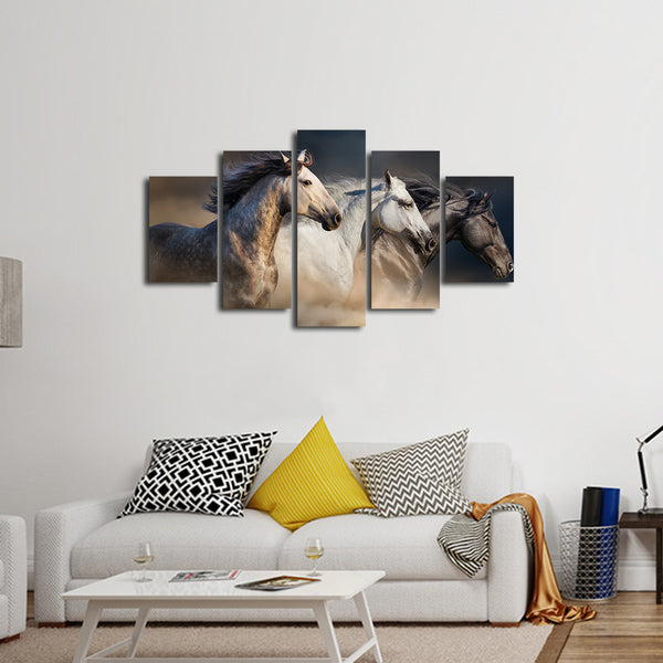 Riding The Desert Multi Panel Canvas Wall Art