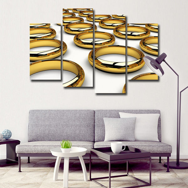 Rings Multi Panel Canvas Wall Art